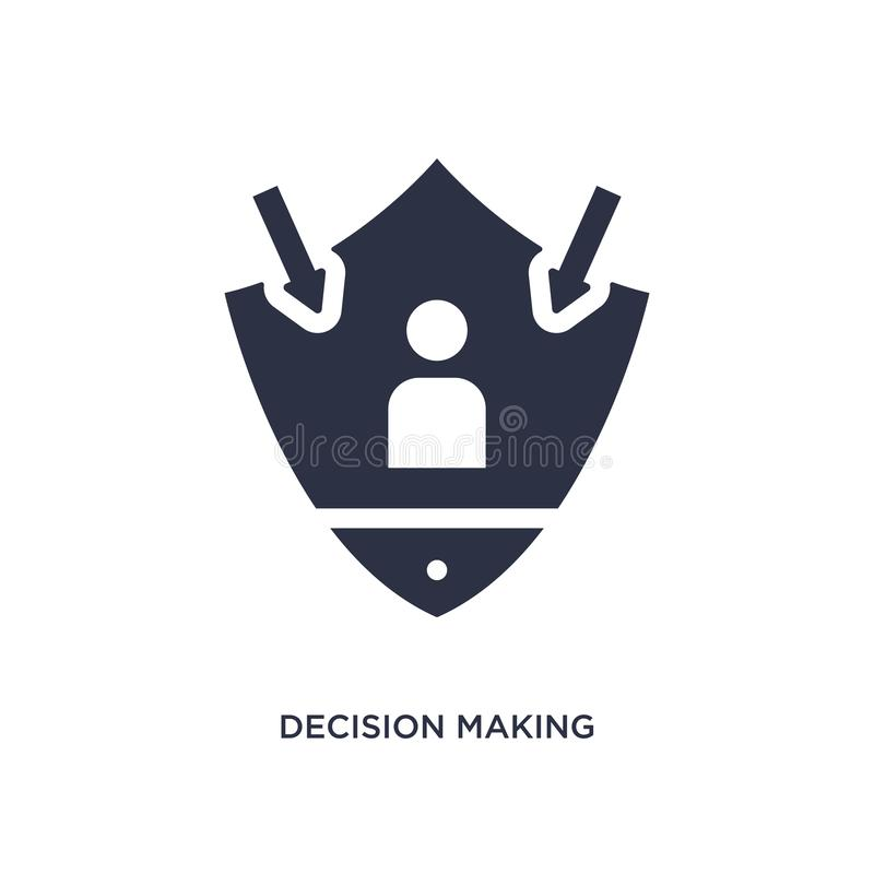 decision making icon on white background. Simple element illustration from gdpr concept royalty free illustration