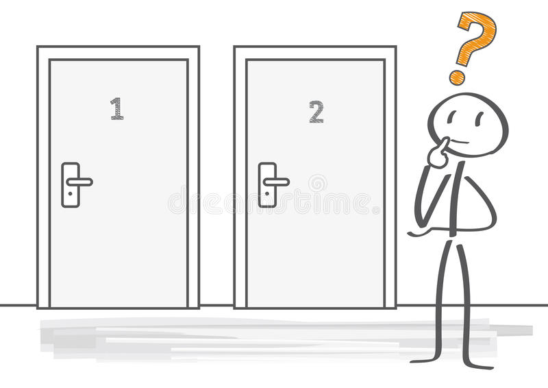 Decision making stock illustration