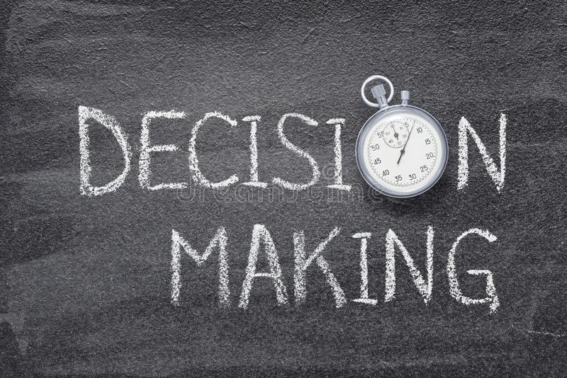 Decision making watch stock photography