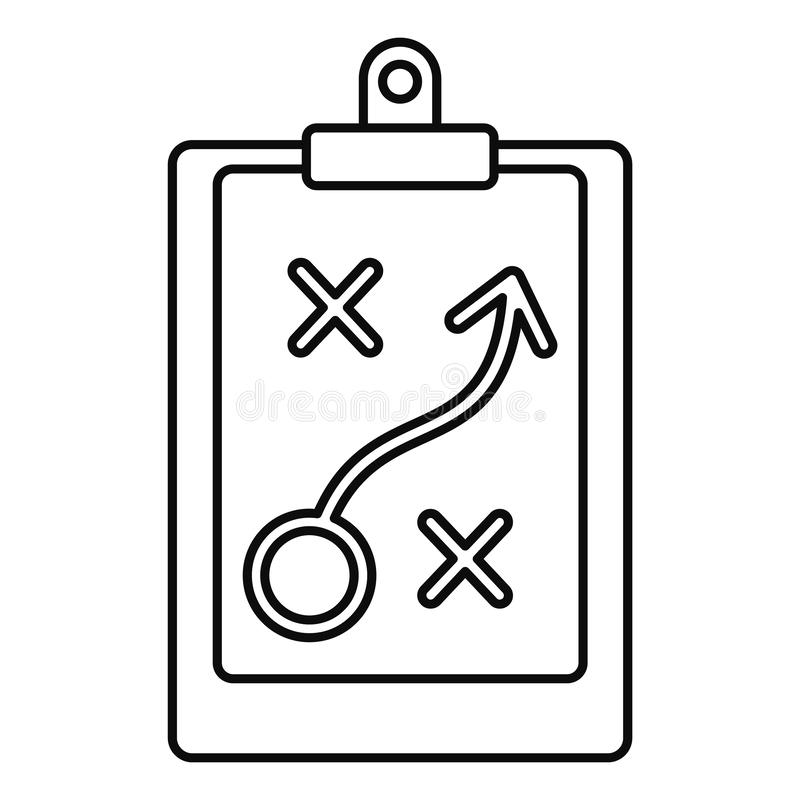 Decision strategy icon, outline style stock illustration