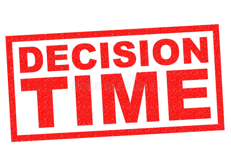 DECISION TIME. Red Rubber Stamp over a white background royalty free illustration