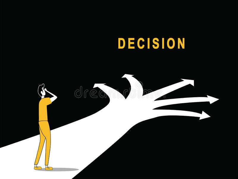 Decision to move on path stock illustration