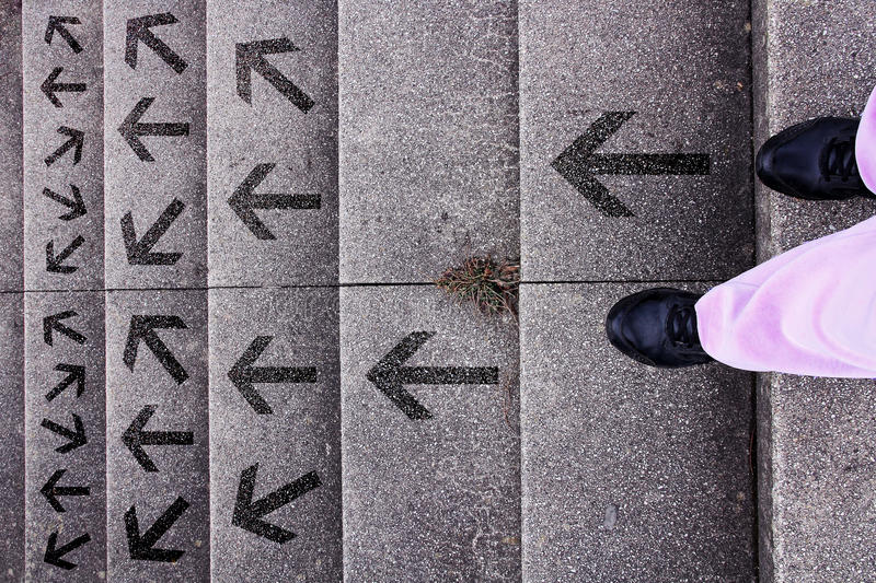 Decision - which way to go? royalty free stock photo