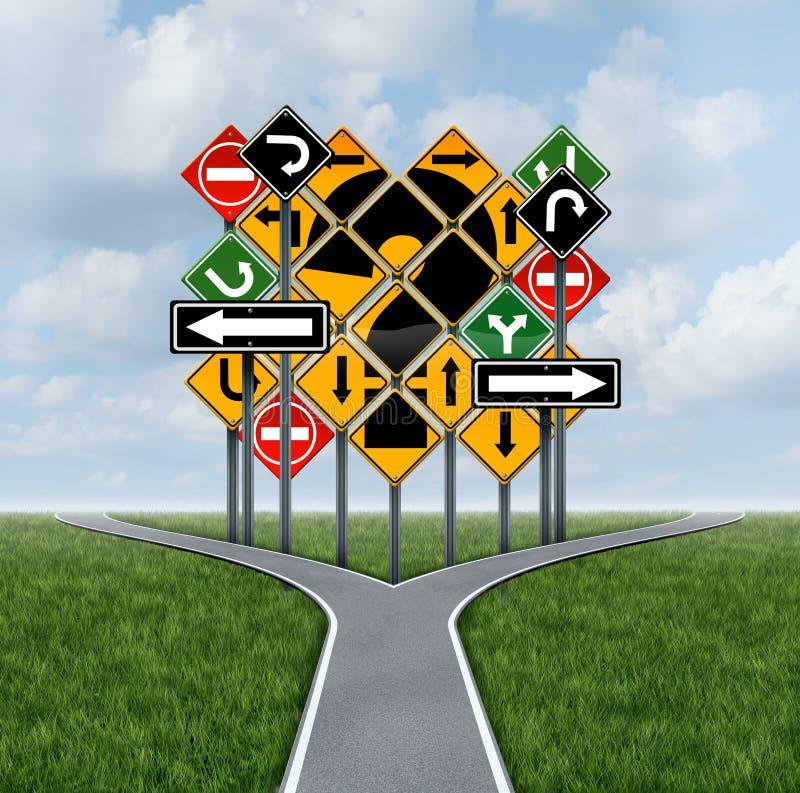 Decisione confusionaria di direzione illustrazione di stock
