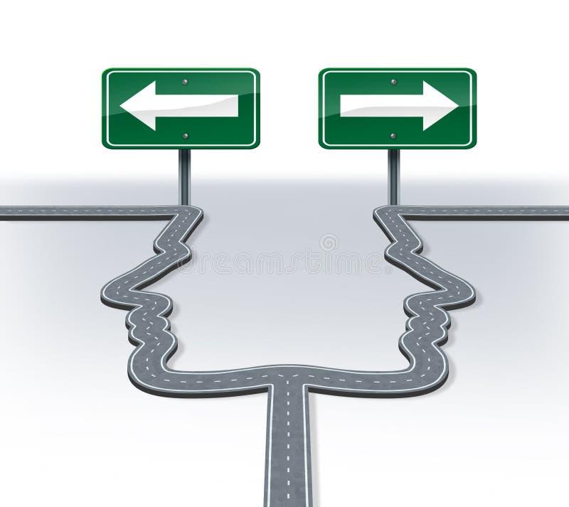 Decisiones de la estrategia stock de ilustración