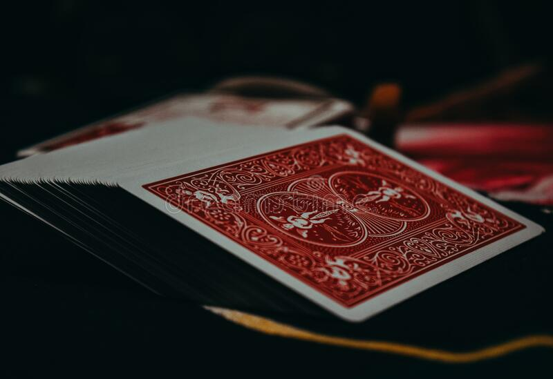 Deck of bicycle playing cards  . Deck of playing cards from bicycle .. Deck of bicycle playing cards royalty free stock photography