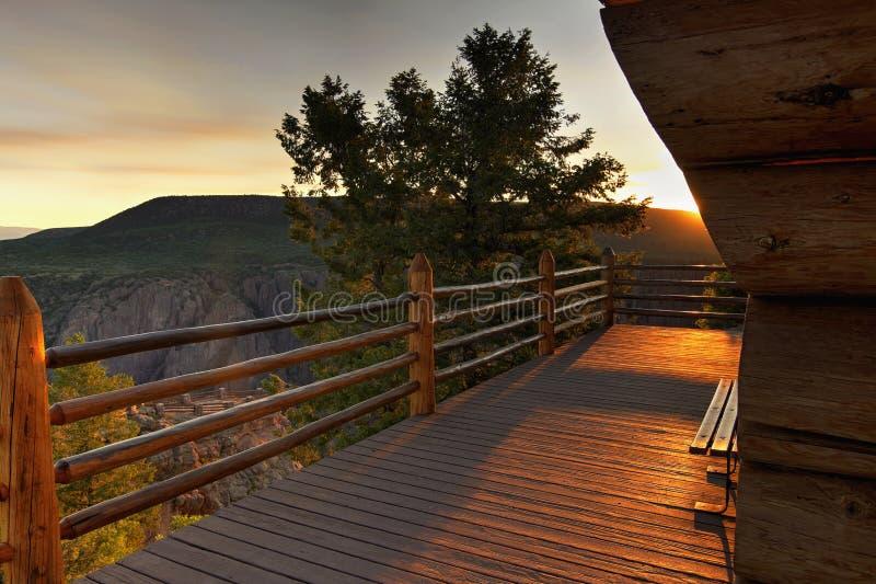 Deck at Black Canyon royalty free stock image