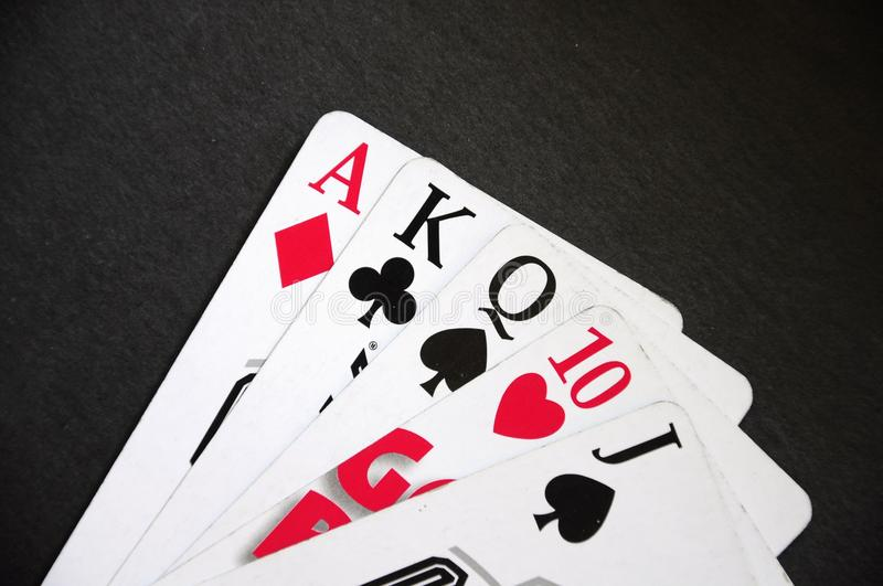Deck of card. Deck of playing cards mixed black and white stock images