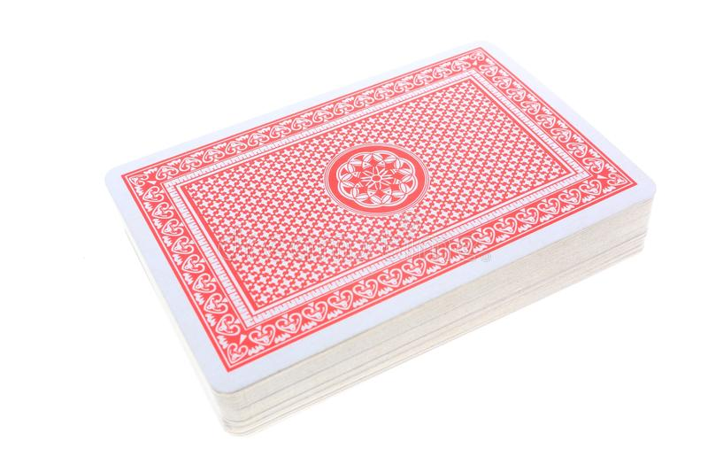 A Deck Of Cards. A deck of poker cards against white background stock image