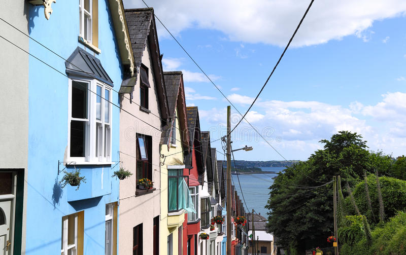 Deck of cards row of houses, Cobh -Ireland royalty free stock photography