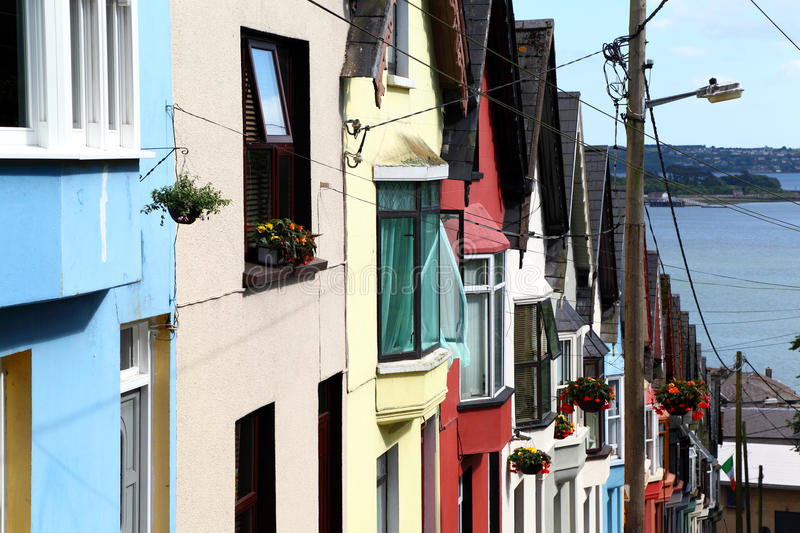 Deck of cards row of houses, Cobh -Ireland stock photography