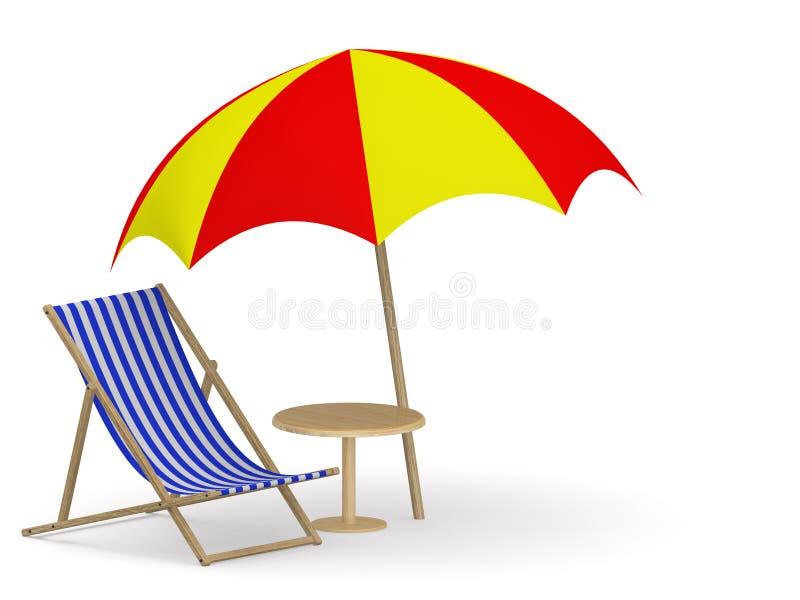 Download Deck chair stock illustration. Illustration of blank - 22552115