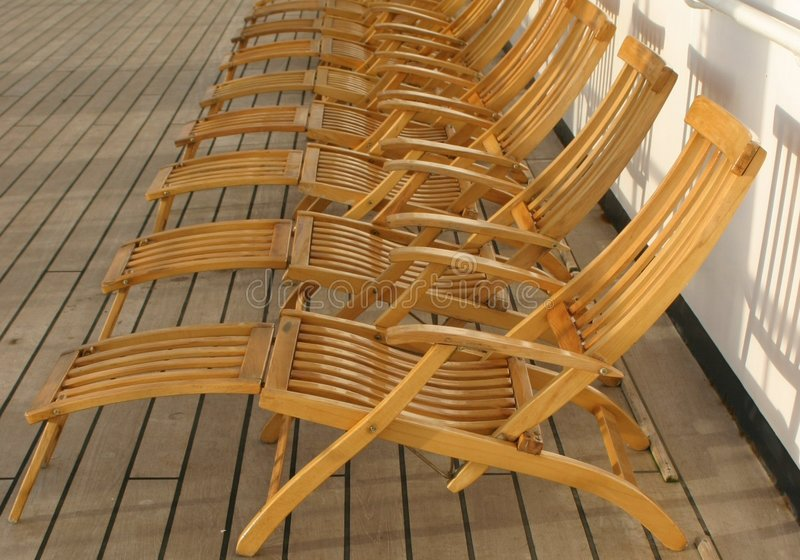 Download Deck chairs stock image. Image of ship, ocean, lineup, sunchairs - 10071