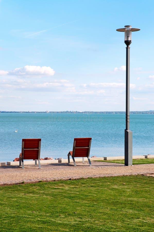Free Deck Chairs At Lake Balaton,Hungary Royalty Free Stock Images - 27045639