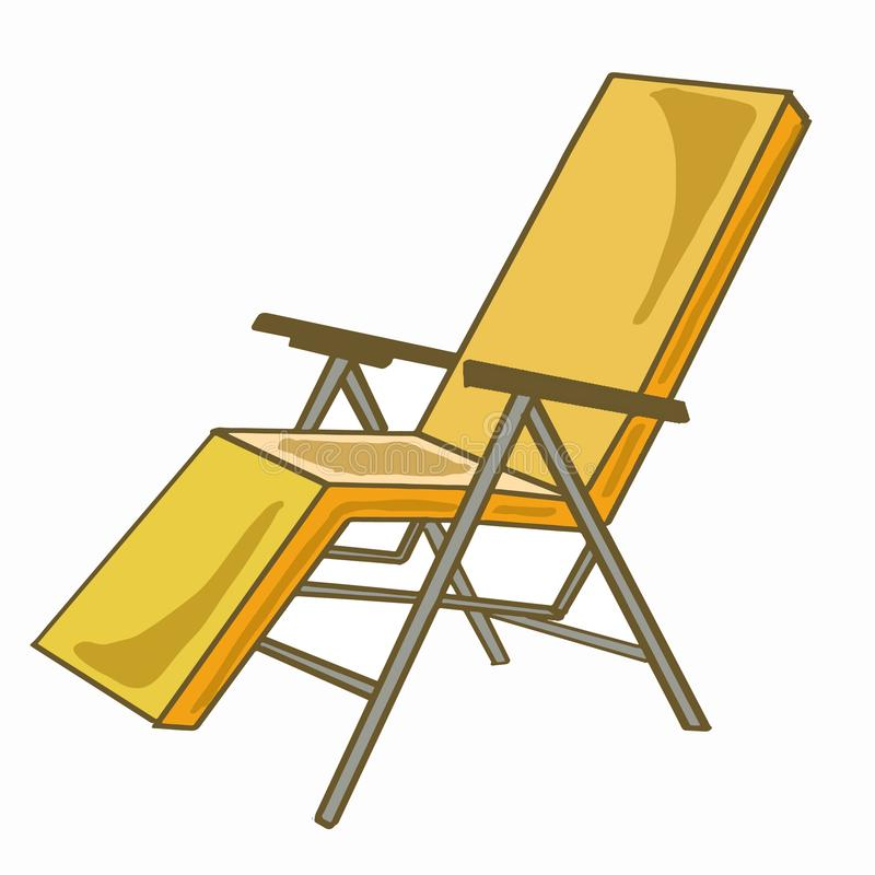Deck chairs. And white background vector illustration