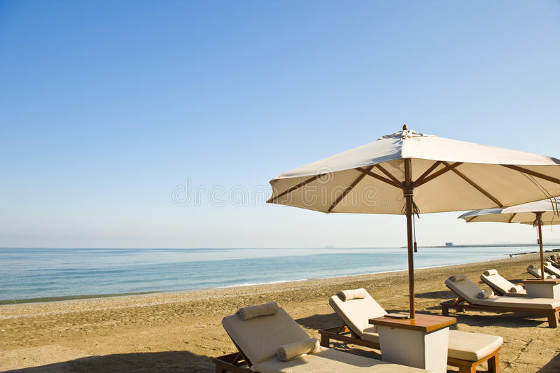 Download Deck Chairs And Umbrellas Stock Photo - Image: 13539960
