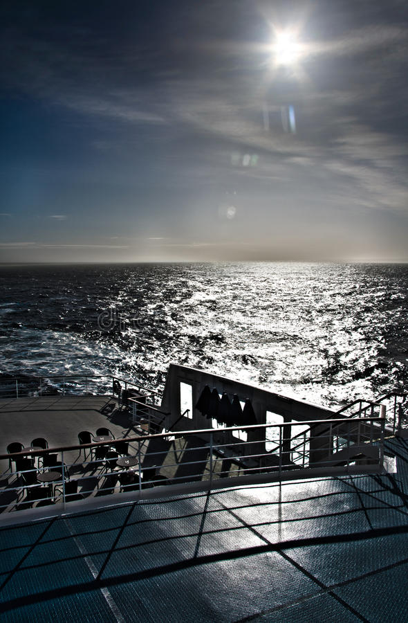 Download Deck of a cruise liner stock image. Image of water, cruiser - 19996071