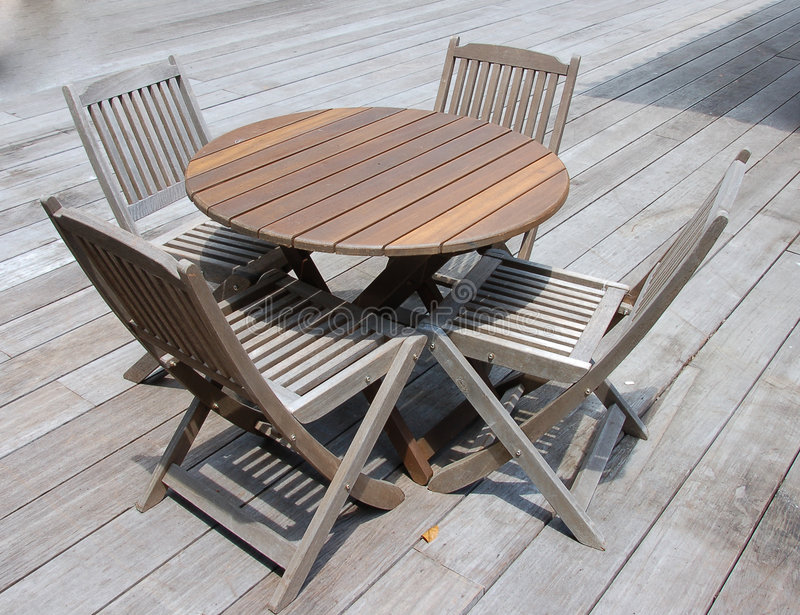 Deck Furniture 1 stock photography