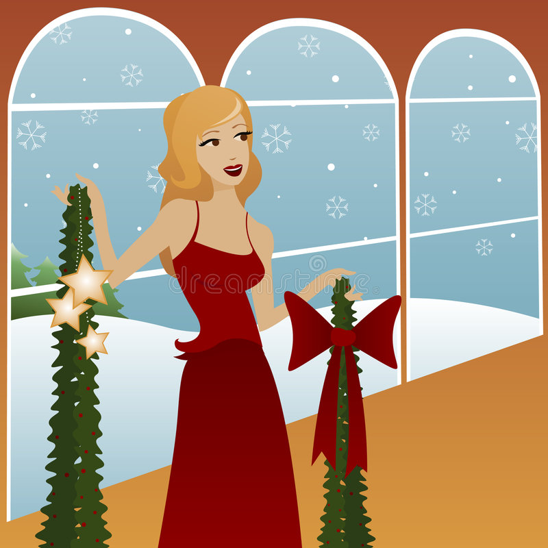 Deck the Halls vector illustration