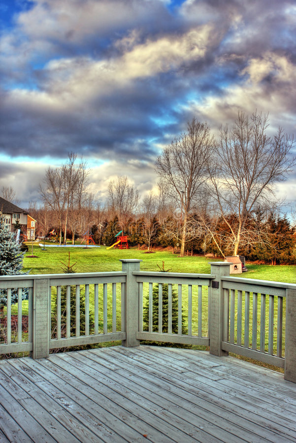 Download Deck view stock image. Image of playsets, winter, stormy - 4233497