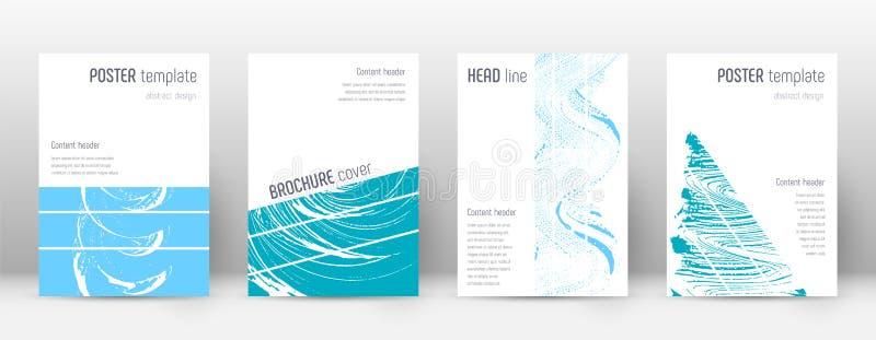 Deckblatt-Designschablone Geometrischer Broschürenplan Mutiges modisches abstraktes Deckblatt Rosa und Blaues vektor abbildung