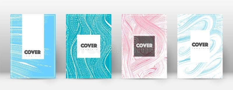 Deckblatt-Designschablone Hippie-Broschürenplan Faszinierendes modisches abstraktes Deckblatt Zacken Sie aus stock abbildung