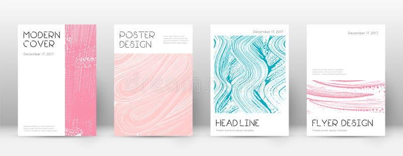 Deckblatt-Designschablone Minimales Brosch?re layou vektor abbildung