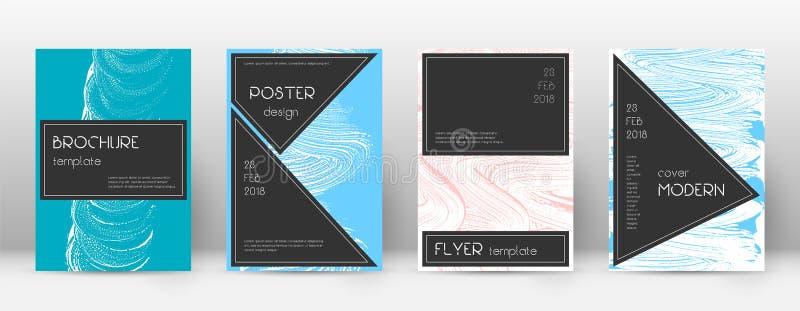 Deckblatt-Designschablone Schwarzer Broschürenplan Beauteous modisches abstraktes Deckblatt Rosa und Querstation lizenzfreie abbildung
