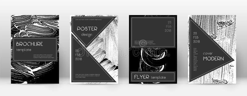 Deckblatt-Designschablone Schwarzer Broschürenplan Beauteous modisches abstraktes Deckblatt Schwarzes und W stock abbildung