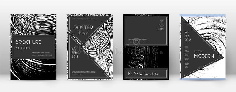 Deckblatt-Designschablone Schwarzer Broschürenplan Beauteous modisches abstraktes Deckblatt Schwarzes und W vektor abbildung