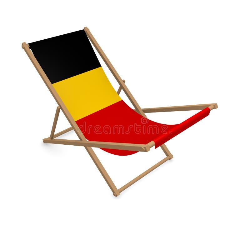 Deckchair с флагом или Бельгией иллюстрация вектора