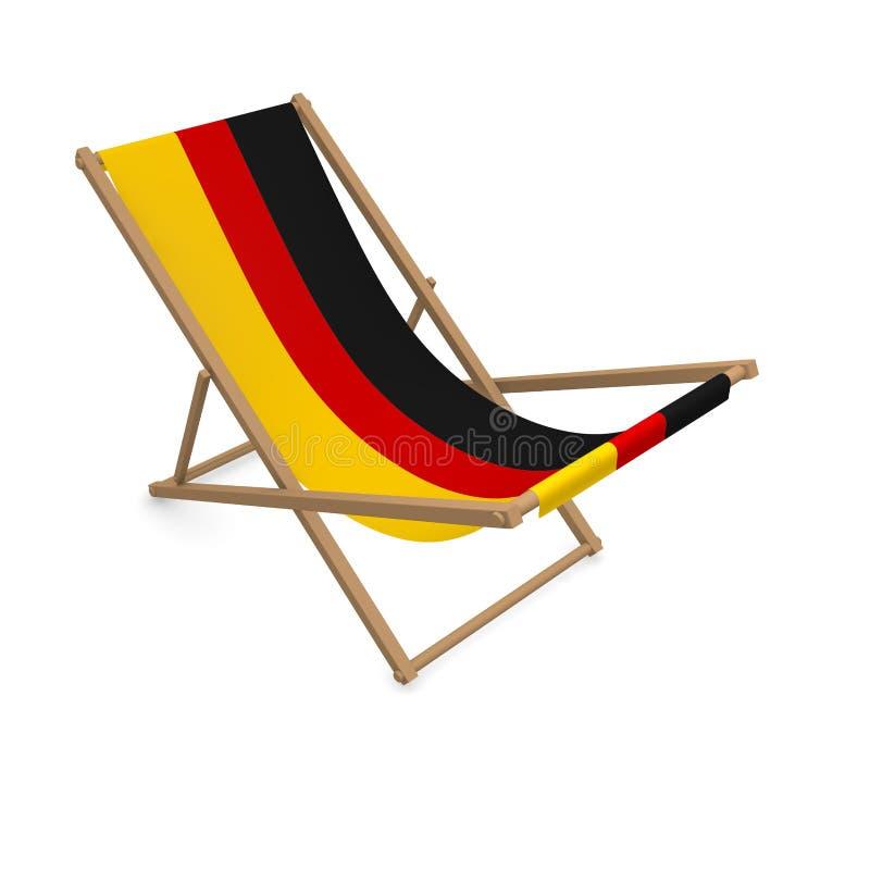 Deckchair с флагом или Германией бесплатная иллюстрация