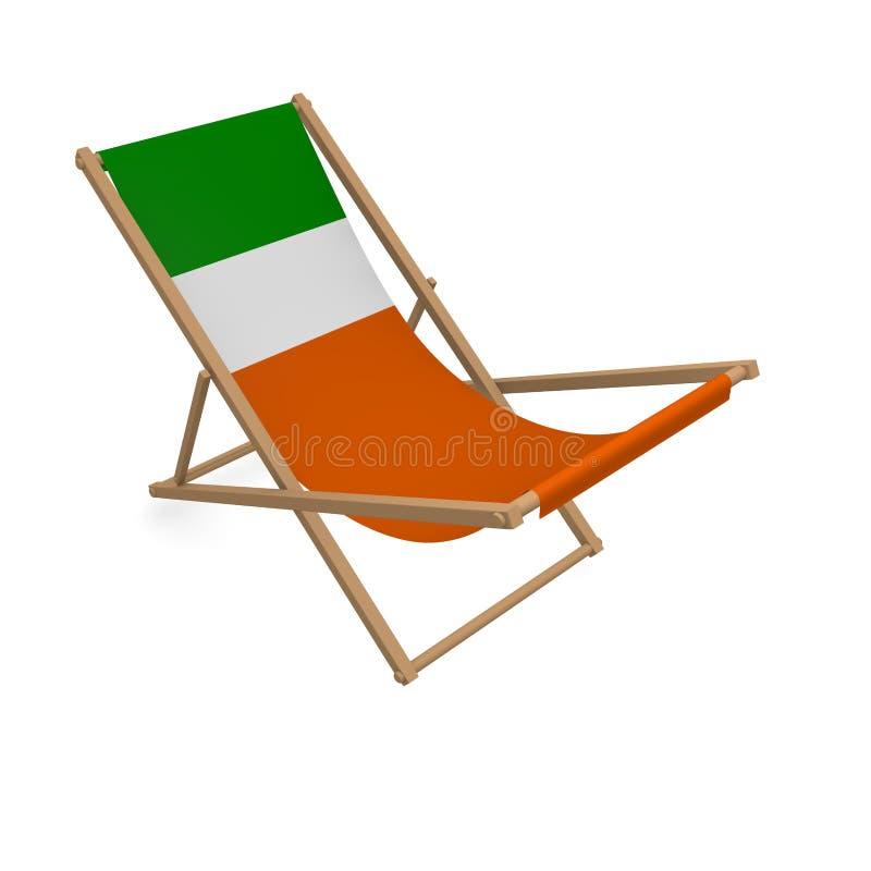 Deckchair с флагом или Ирландией иллюстрация вектора