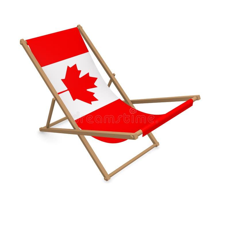 Deckchair с флагом или Канадой бесплатная иллюстрация