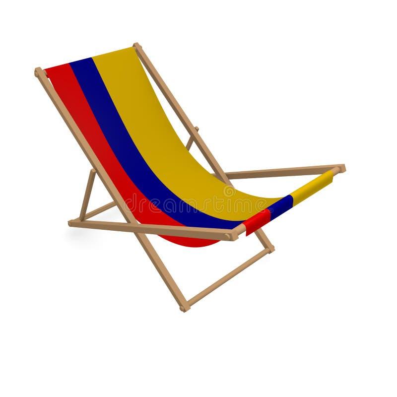 Deckchair с флагом или Колумбией бесплатная иллюстрация