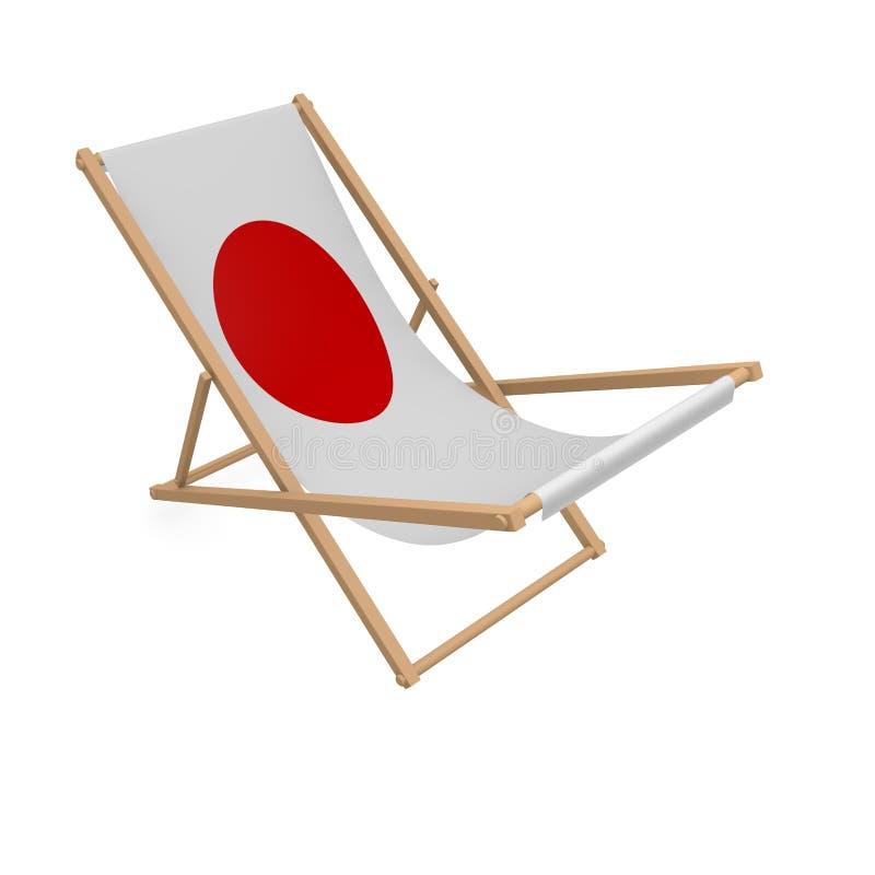 Deckchair с флагом или Японией бесплатная иллюстрация