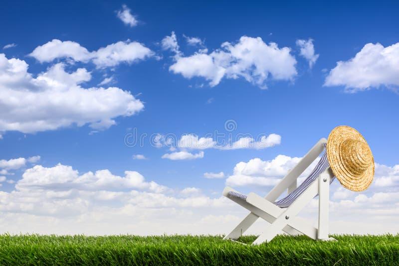 Deckchair fotografie stock libere da diritti