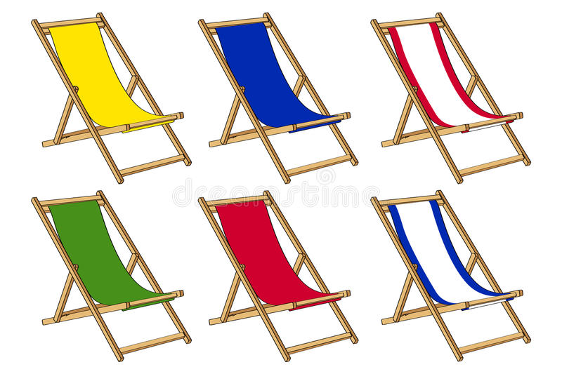 Download Deckchair for summer time stock illustration. Image of good - 14850291
