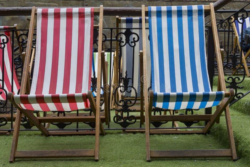 deckchairs fotografia royalty free