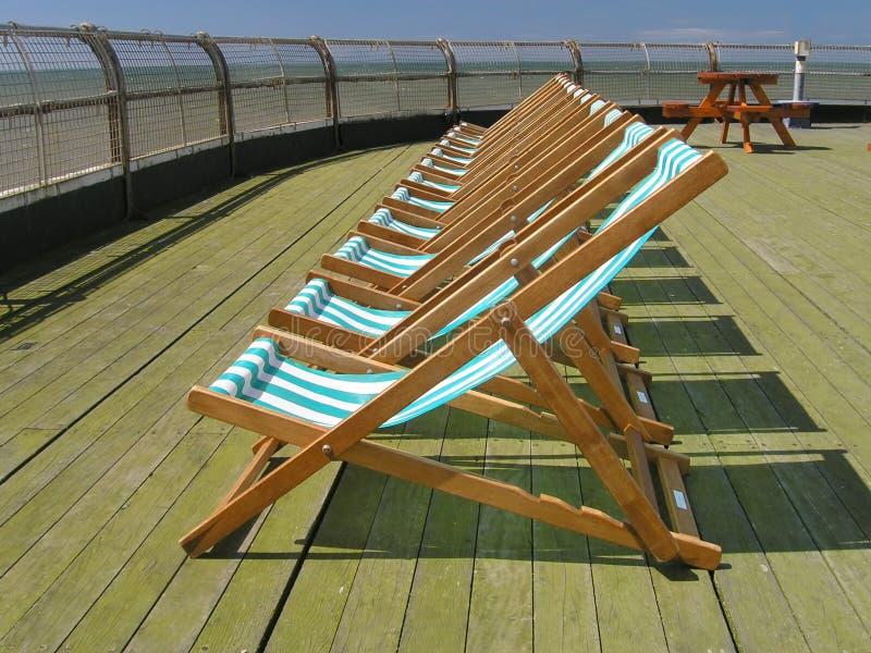 deckchairs zdjęcie royalty free