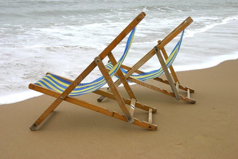 Deckchairs stockbild