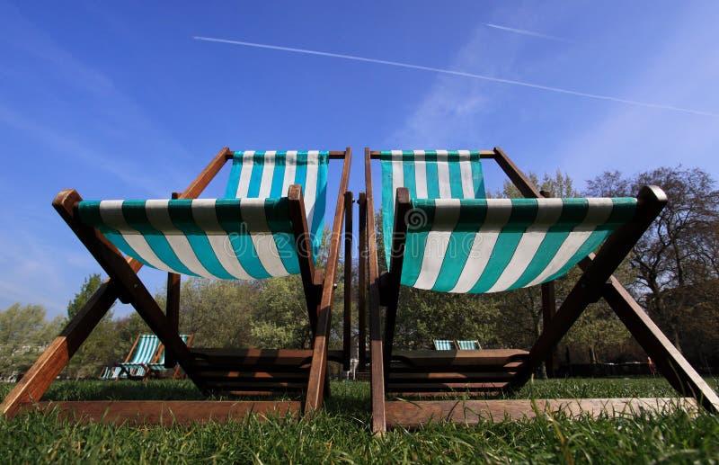 deckchairs zdjęcie stock