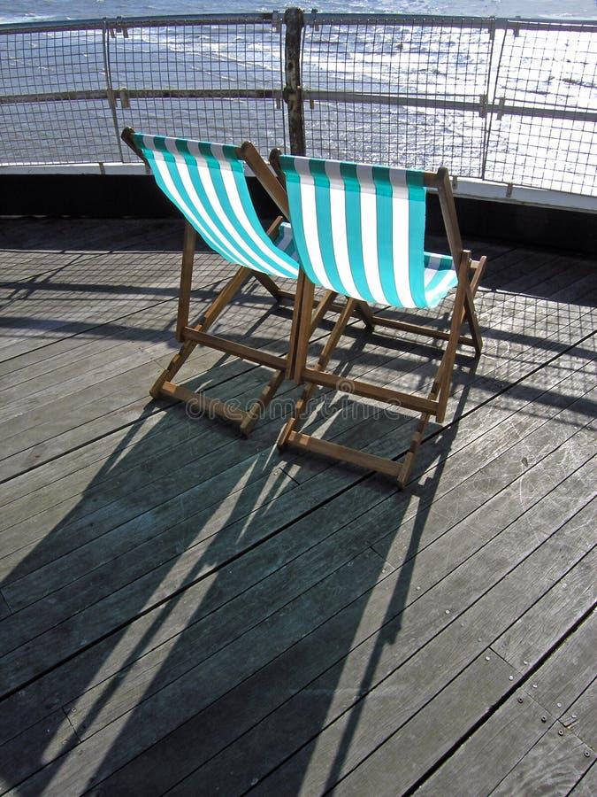 deckchairs zdjęcia royalty free
