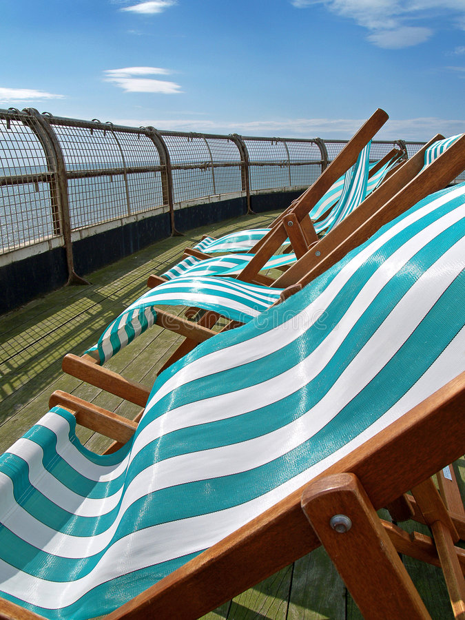 deckchairs arkivfoton
