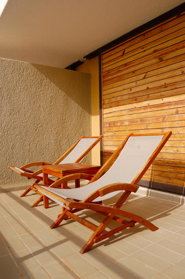 Download Deckchairs At The Balcony Of Luxury Hotel Royalty Free Stock Photo - Image: 14898445