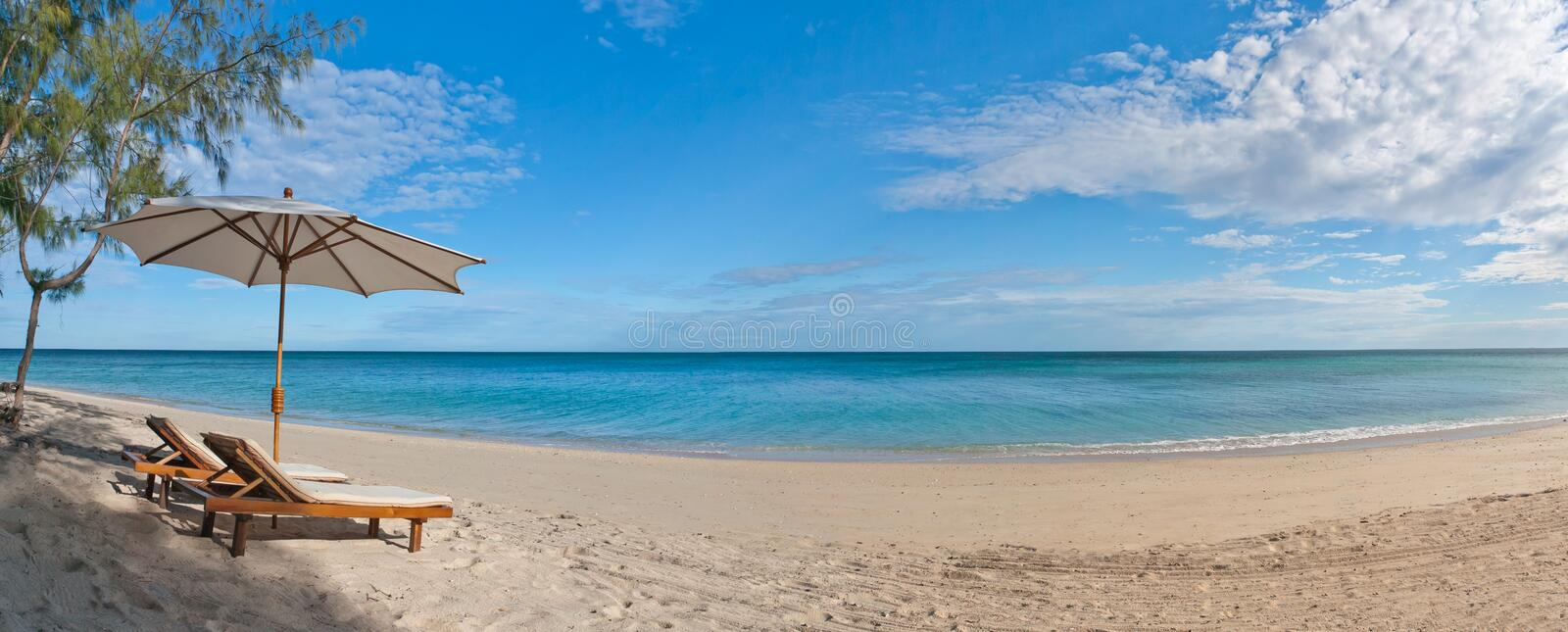 Download Deckchairs on the beach stock photo. Image of tranquility - 15248304