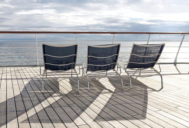Deckchairs royalty free stock photo