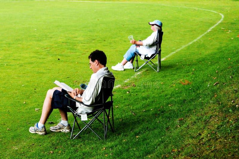 deckchairs widzowie fotografia royalty free