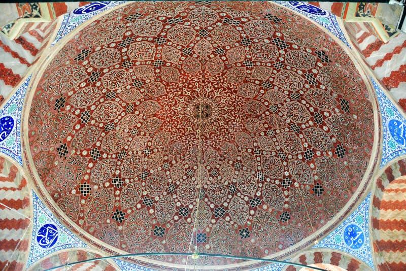 Decke des Grabs von Suleyman der ausgezeichnete Kanuni Sultan Suleyman in Istanbul lizenzfreie stockfotografie