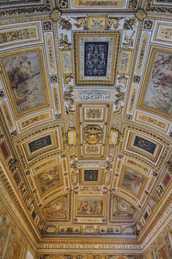 Decke im Vatikan-Museum lizenzfreies stockbild